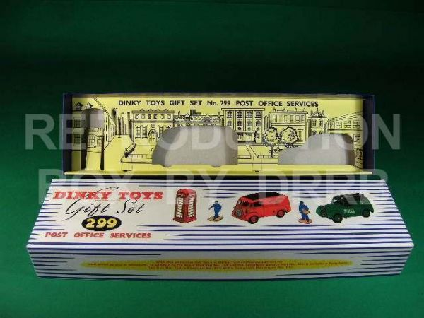 Dinky #299 Post Office Services Set - Reproduction Box